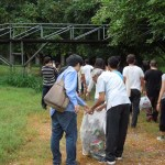 'Walkathon', picking up garbage at Bougainvillea Garden, Chandigarh