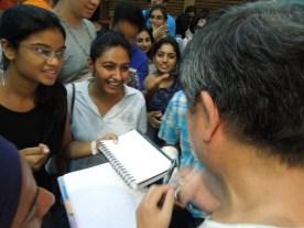 Prof. Kengo Kuma signing autographs