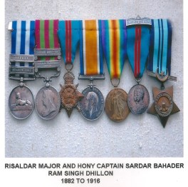 Risaldar Major and Hony Captain Sardar Bahader Ram Singh Dhillon