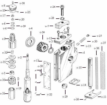 Challenge Drill Head and Parts