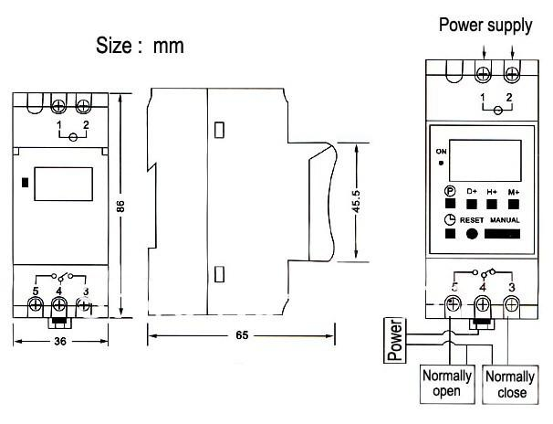 2020 DHL Or EMS Timer Switch Digital LCD Power Weekly