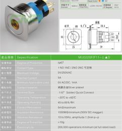 high quality ce tuv 22mm metal stainless steel anti vandal momentary push button 12v 24v illuminated [ 800 x 1162 Pixel ]