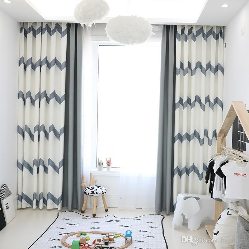acheter minimalisme style rideaux pour salon chambre naturel blackout rideau stores decoration de la maison personnalise blanc gris drapes de 7 78