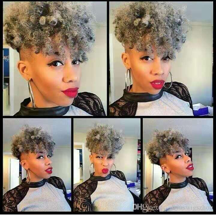 Afro Kinky Curly Ponytail African American Short Curly Puff