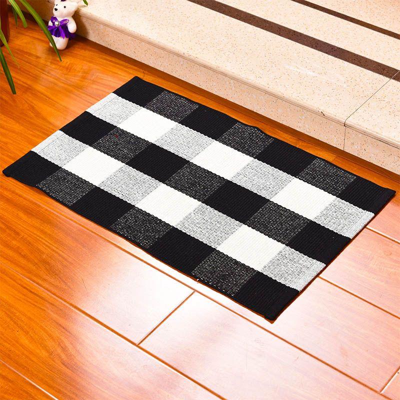 acheter plaid cotton paillasson plaids buffalo checkered layered porte tapis exterieur carpette pour front porch entree way cuisine salle de bain 60