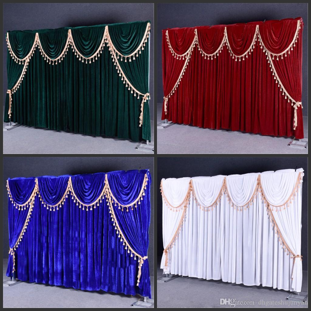 velvet wedding backdrop curtains with