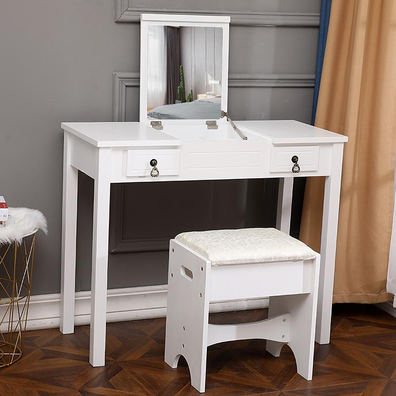 2021 white single mirror vanity set 2