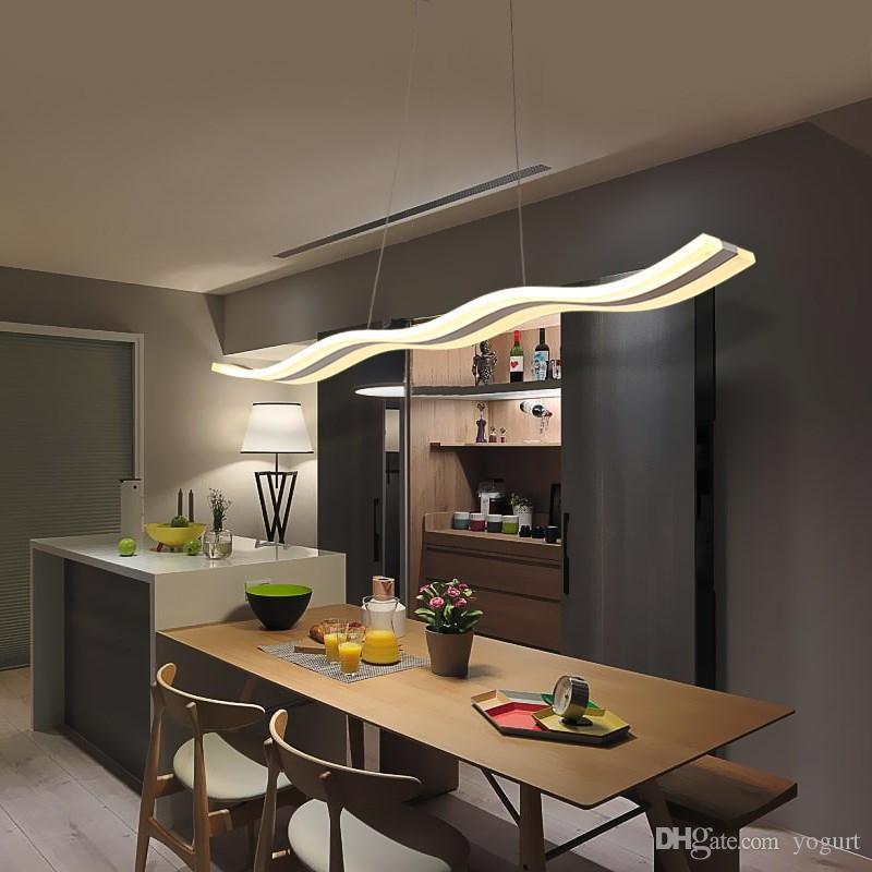 Acheter Lustre Moderne Led Eclairage Salle A Manger Cuisine Ilot Luminaire Suspension Acrylique Lampe Suspendue De 91 34 Du Yogurt Dhgate Com