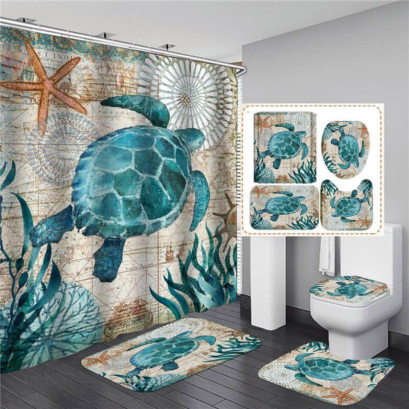 2021 bathroom sets shower curtain set