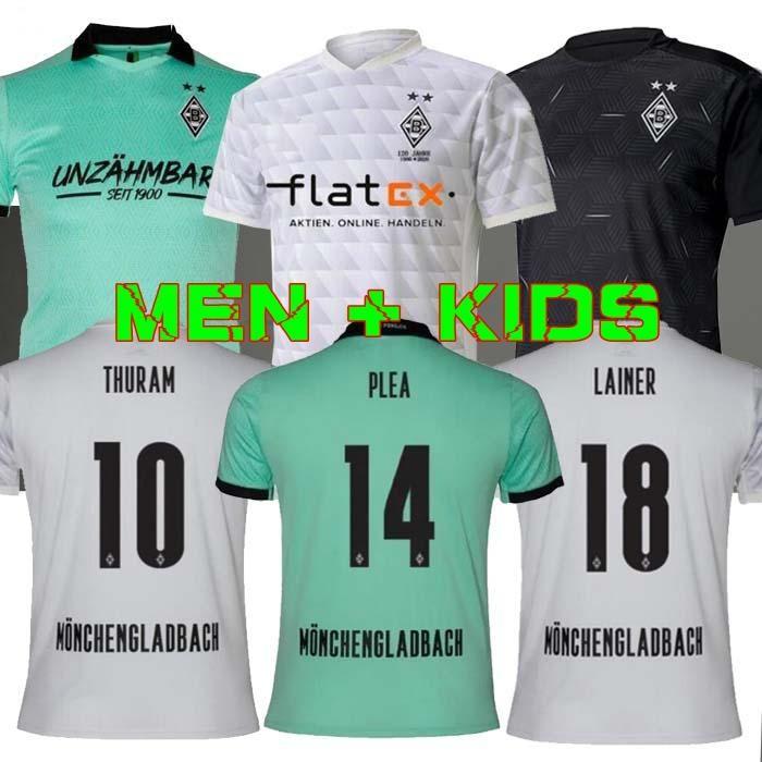 grosshandel manner kinder 20 21 monchengladbach fussball jersey120th jahrestag gladbach 2020 2021 monchengladbach thuram lainer plea borussia fussball