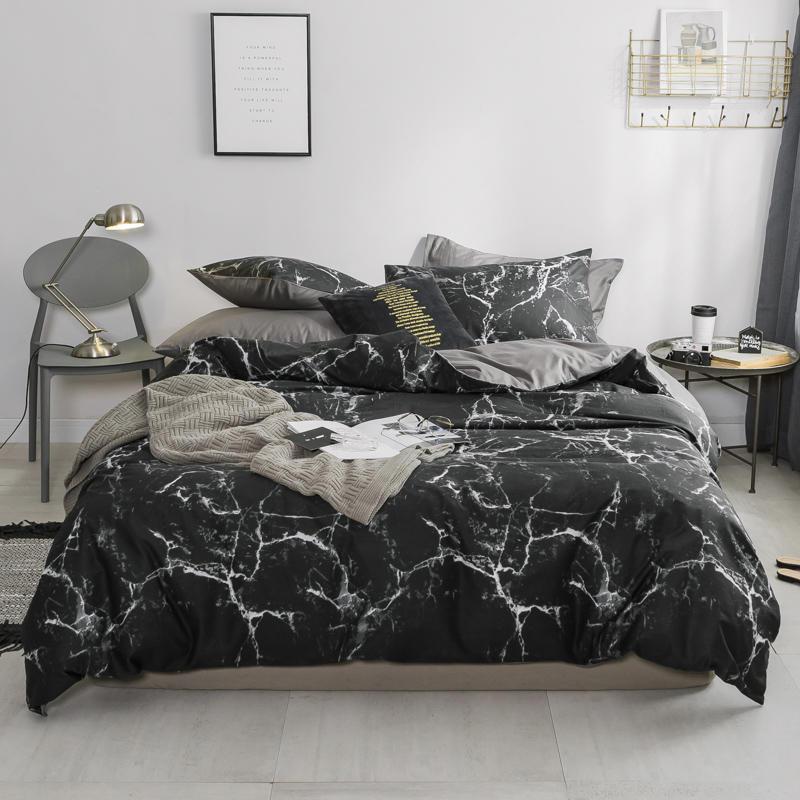 white black grey nordic bedding set