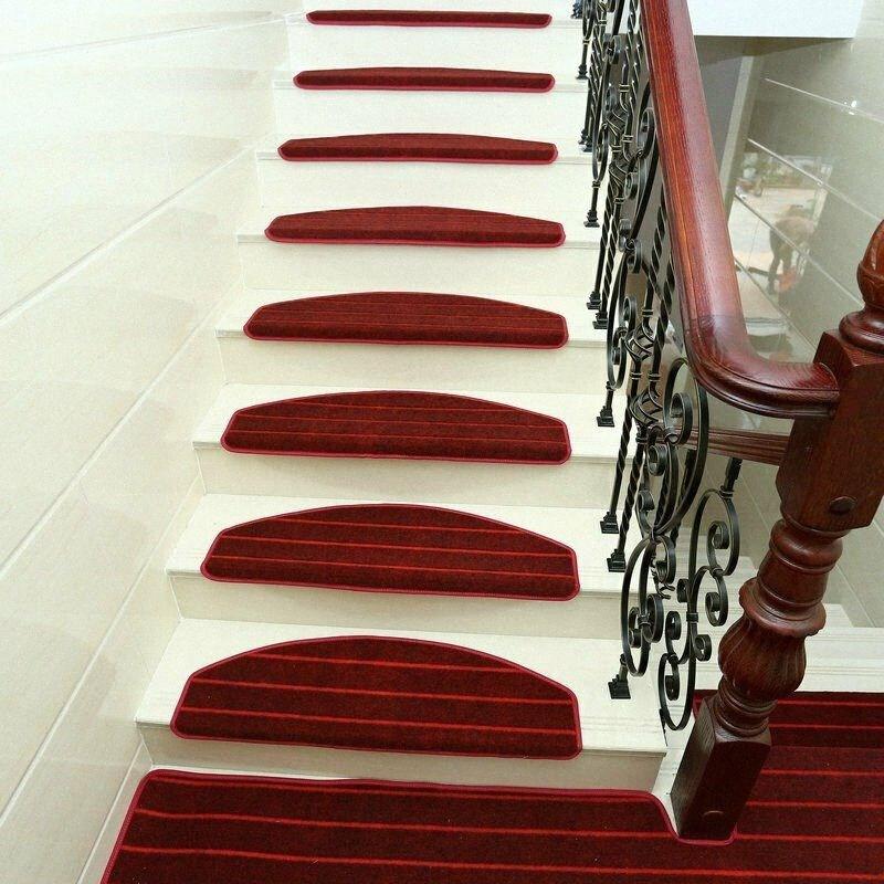 Modern Stripes Stairs Mat Adhesive Carpet Stair Treads Mat Non   Non Slip Stair Treads For Carpeted Stairs   Walmart   Skid Resistant   Basement Stairs   Indoor Stair   Slip Resistant