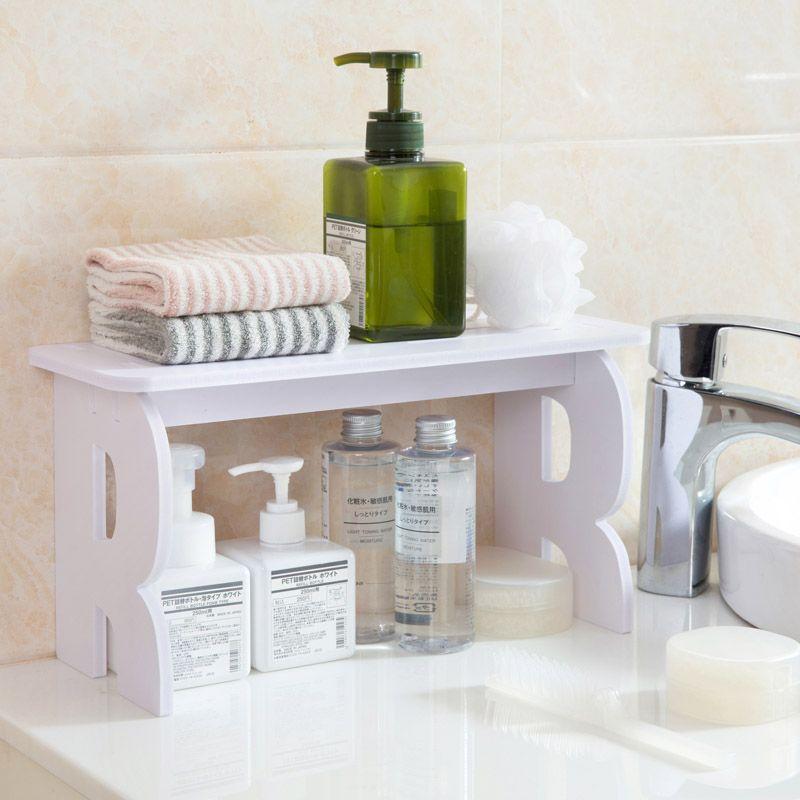 2020 White Wooden Bathroom Debris Storage Rack Desktop Makeup Organizer Shelf Bookshelf Bathroom Accessories Home Decor From Highqualityok3 34 05 Dhgate Com