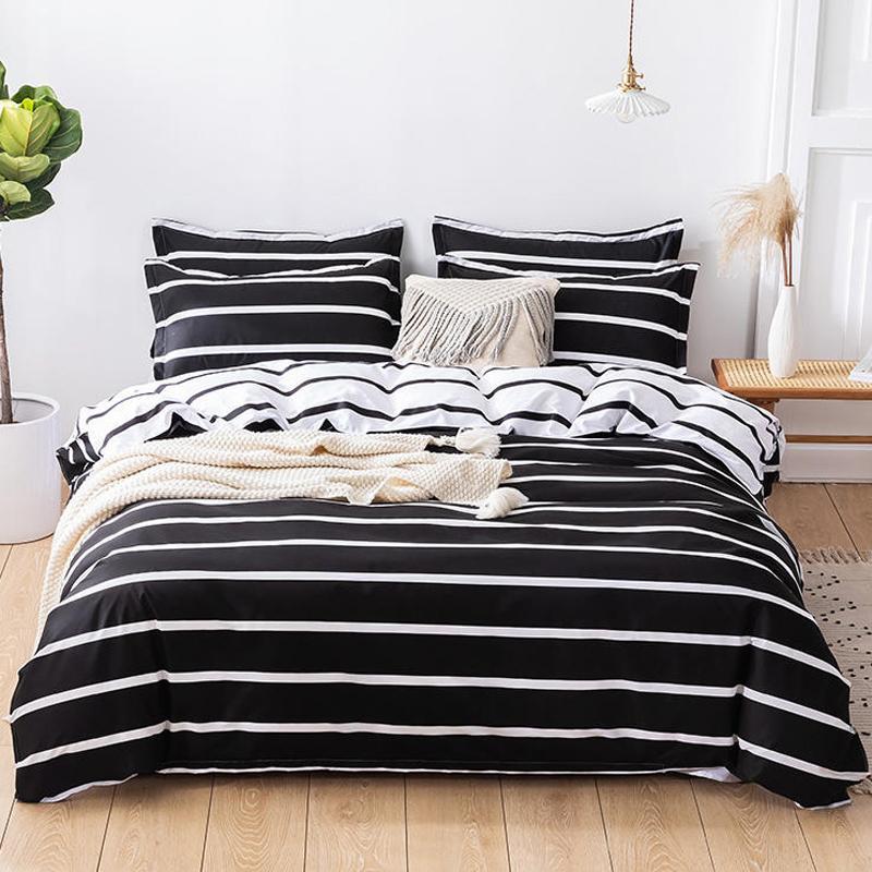 classic 3 polyester cotton black white