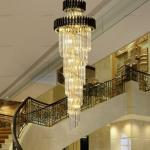 Free Freight Modern Staircase Chandelier Lighting Long Staircase Crystal Light Fixtures Luxury Hallway Black Cristal Hanging Lamps Antler Chandeliers Bathroom Chandelier From Sunnyfireman 712 04 Dhgate Com