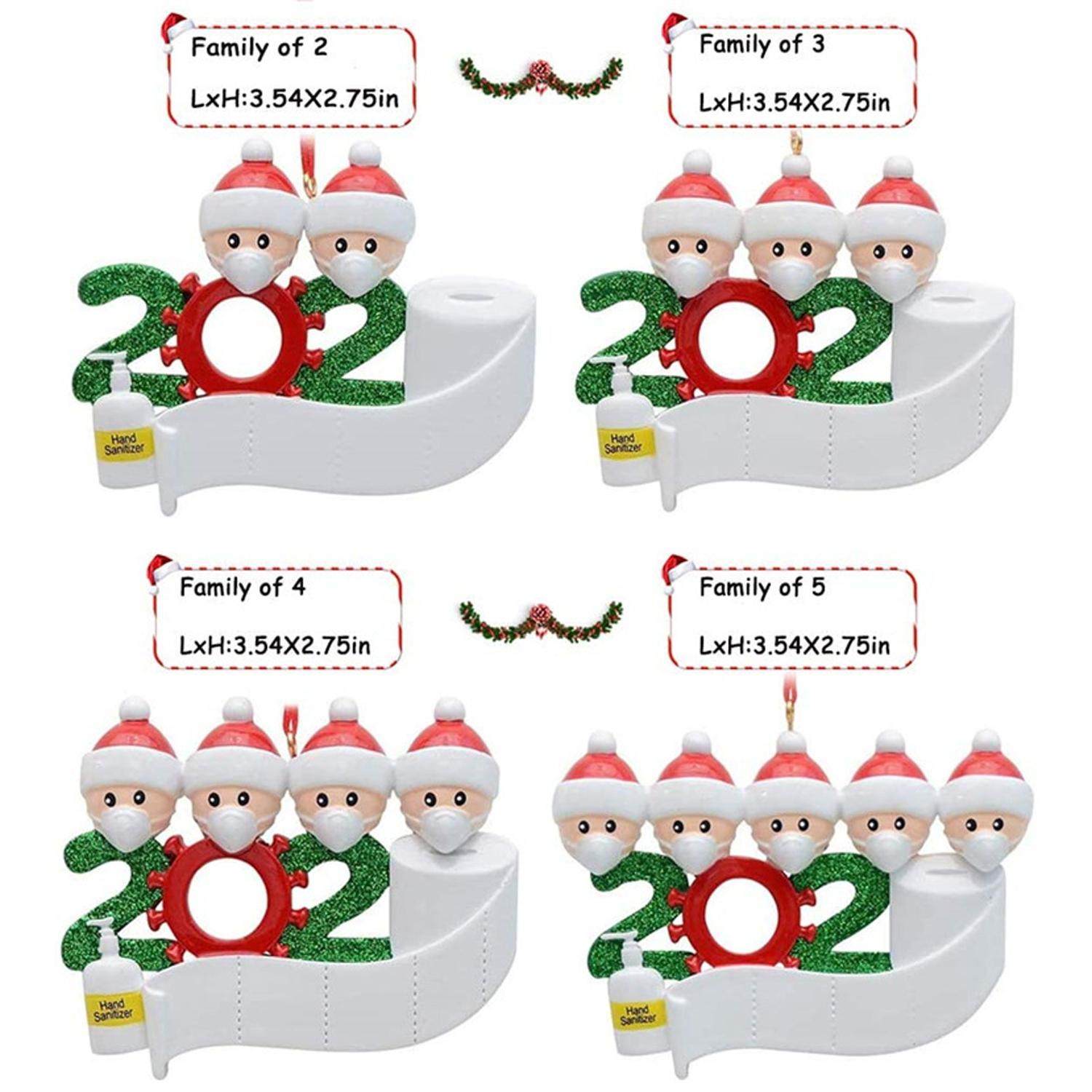 2020 Quarantine Personalized Ornaments Survivor Family Of 2 3 4 5 6 7 Diy Names With Face Masks Hand Sanitized Christmas Ornament Christmas Decorations On Sale Christmas Decorations On Sale Online From Solars 0 91 Dhgate Com