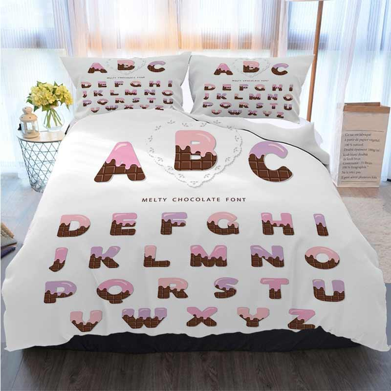 merry christmas duvet cover set cartoon alphabet pink cream melted on chocolate duvet cover designer bed comforters sets duvet covers black and white white duvet covers king from well01 121 49 dhgate com