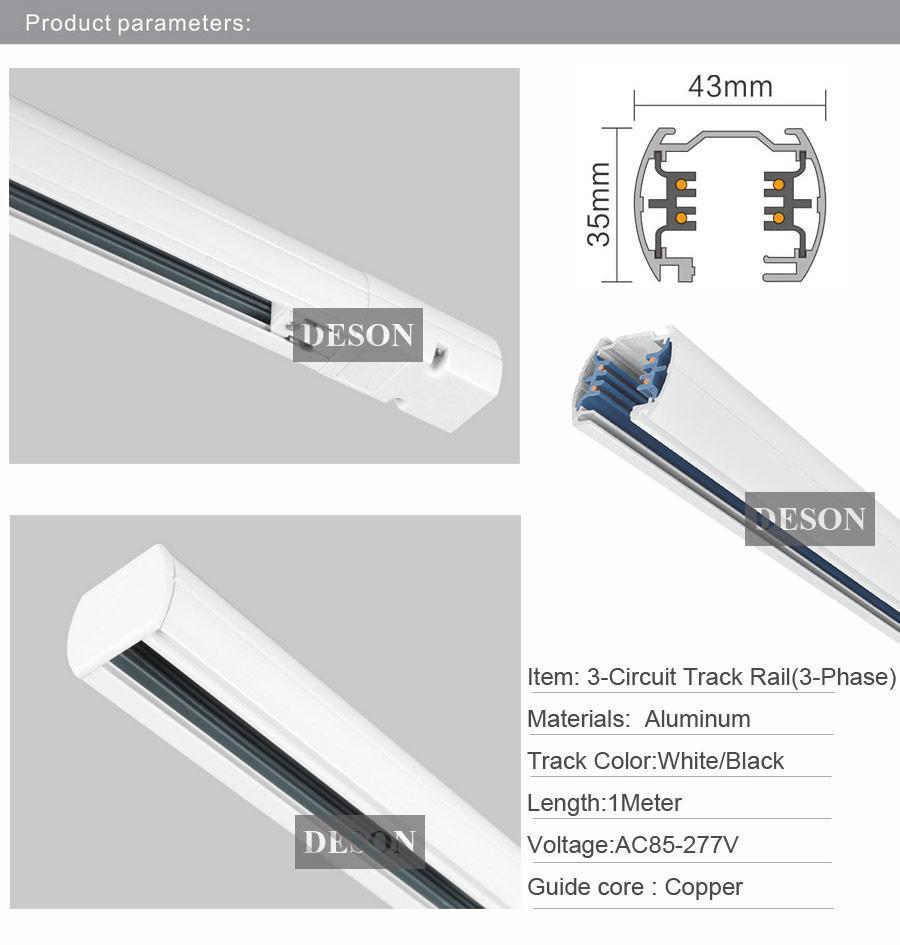 medium resolution of dhl 1m 3 phase circuit 4 wires tracks aluminium led track light rail lighting spot light