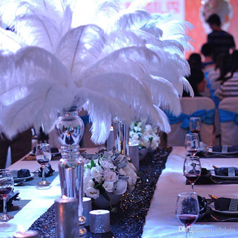 acheter pas cher bricolage autruche plumes plume decoration de table de mariage piece maitresse plume dautruche autruche plume fete de mariage