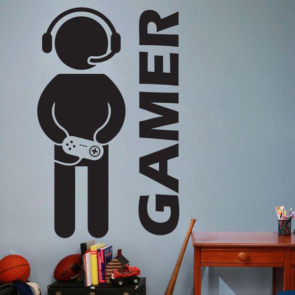 acheter jeu video gamer gamer sticker art decor sticker vinyle sticker mural pour chambre garcons de 4 17 du flylife dhgate com