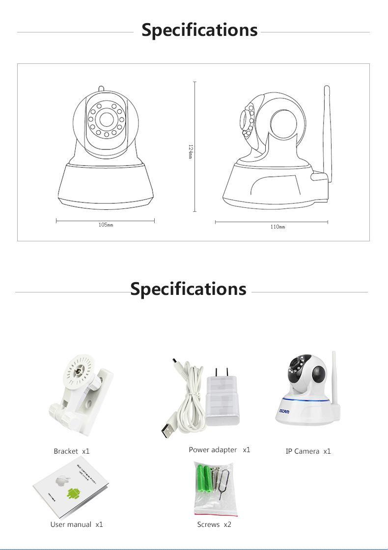 Compre ESCAM QF002 HD 720P Cámara De Vigilancia De