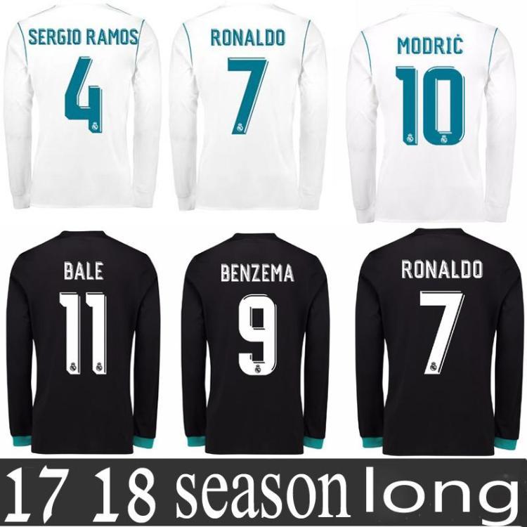 2021 Real Madrid Jersey 2018 Long Sleeve Ronaldo Football ...