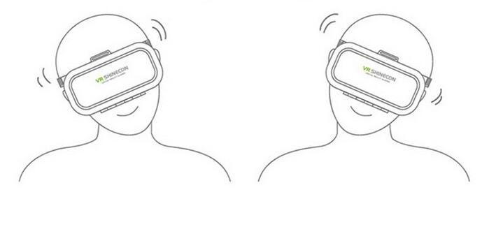 VR SHINECON 3D Virtual Reality Head Mounted 3D Video