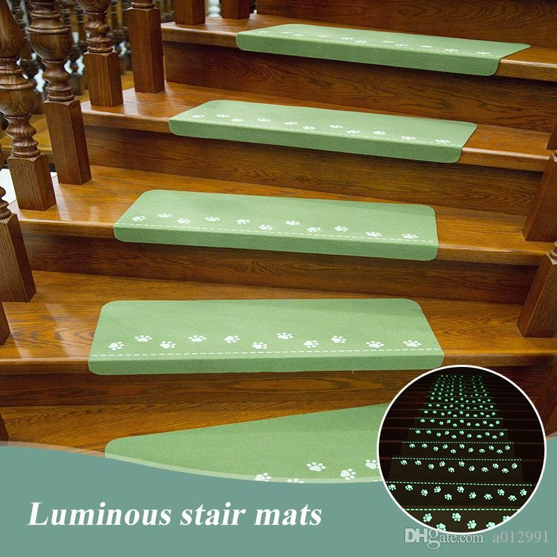 Luminous Stairs Ladder Carpets Rugs Mats Cartoon Pattern Stepping | Carpet Tiles For Stairs | 18 Inch | Interior | Contemporary | Children's | Tile Stair Treads