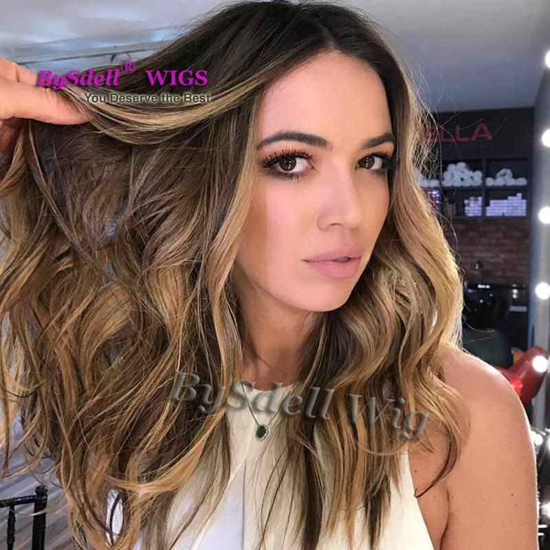 Premium Natural White Woman Hairstyle Wig Synthetic Hair Dark