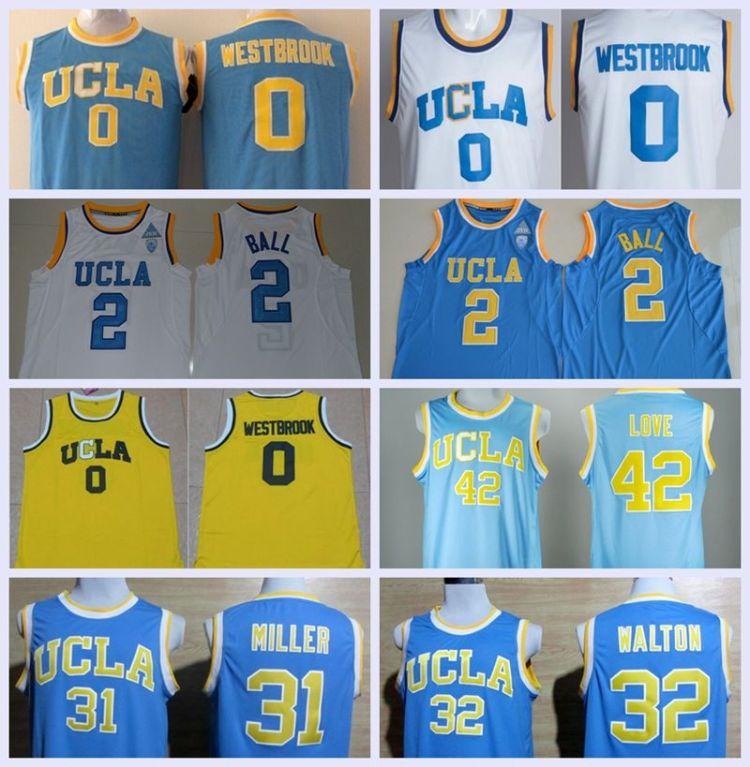 2021 UCLA Bruins College Jerseys Men Basketball 0 Russell ...
