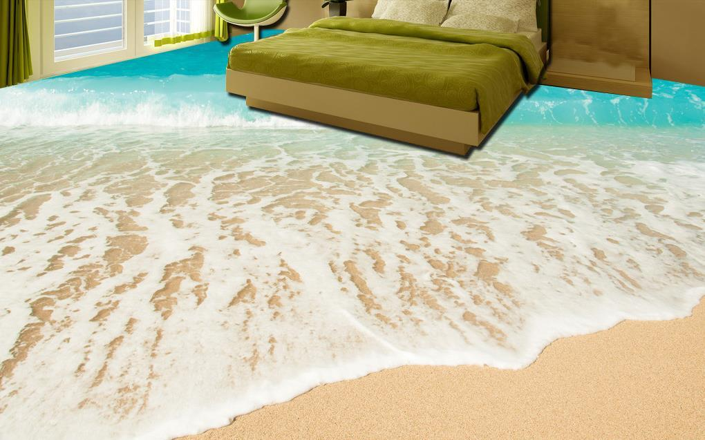 customized 3d flooring beach seaside