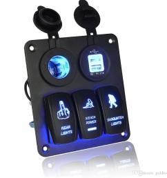 led rocker switch wiring 5 gang waterproof car auto boat marine led rocker switch panel circuit breakers [ 1000 x 1000 Pixel ]