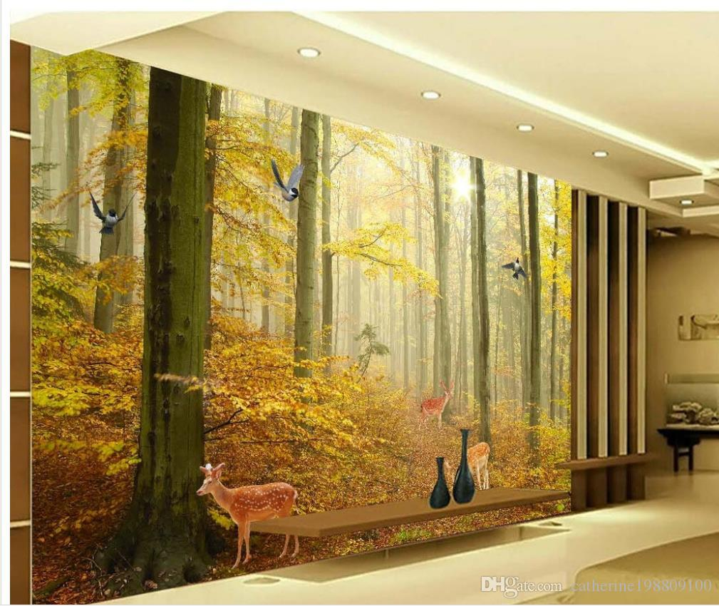 High Definition Modern Minimalist Forest Landscape Background Wall Wallpaper For Walls 3 D For Living Room Actress Wallpaper Actress Wallpapers From Catherine198809100 5 81 Dhgate Com