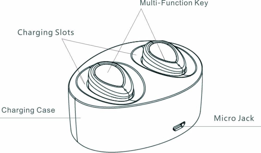 TWS K2 Wireless Bluetooth EarbudsEarpods Mini Twins True