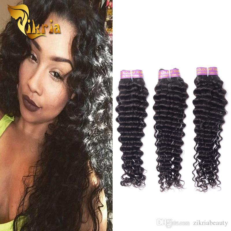 Crochet Bradis Deep Wave Human Hair Weave Brazilian Malaysian
