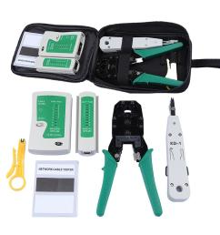 network ethernet cable tester rj45 kit rj45 crimper crimping tool punch down rj11 cat5 cat6 wire line detector [ 1000 x 1000 Pixel ]