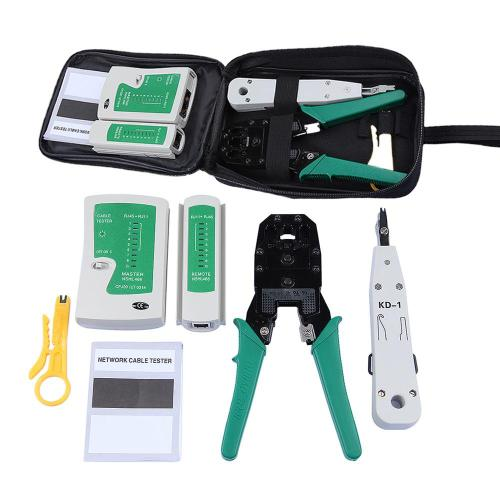 small resolution of network ethernet cable tester rj45 kit rj45 crimper crimping tool punch down rj11 cat5 cat6 wire line detector
