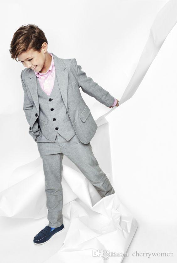 light grey boys formal suits flower