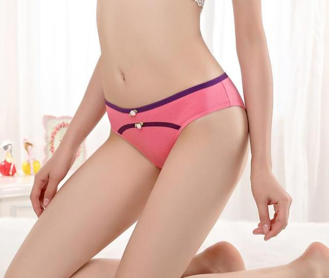 Free Shipping Yun Meng Ni Sexy Underwear Sex Hot Girl Teen Girls Briefs Cotton And Cute Bow Women Panty