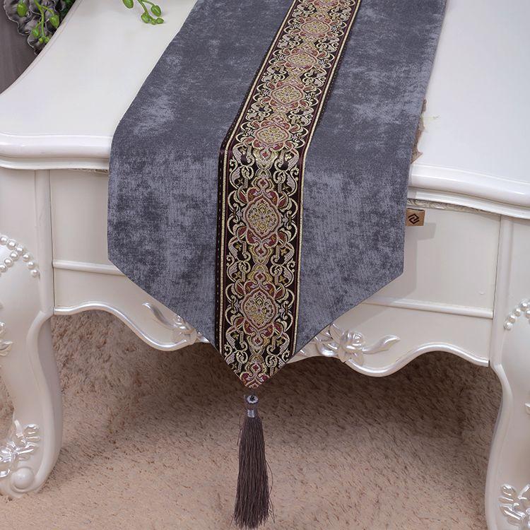acheter classique patchwork dentelle chemin de table tissu velours table de repas protections europe style americain rectangle table basse chiffon