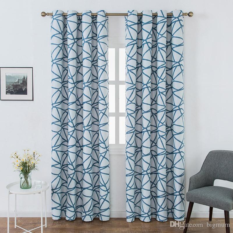 acheter moderne motif geometrique rideaux de blackout de haute qualite rideaux pret a faire custom fenetre rideau pour salon chambre cuisine de 15 07