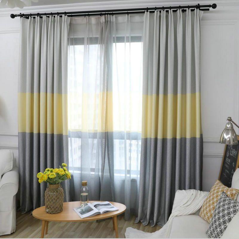acheter rideaux blackout gradient moderne nordique pour salon decoratif trois couleurs tissu chambre rideau stores nuances panneau de 9 67 du bigmum