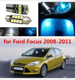 wljh 6pcs car light 2835smd festoon 36mm c5w w5w t10 led lights interior bulb package deal for ford focus 2008 2009 2010 2011 [ 1002 x 1002 Pixel ]