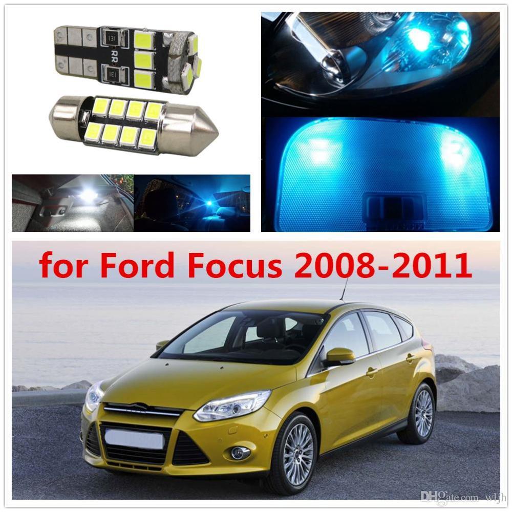 medium resolution of wljh 6pcs car light 2835smd festoon 36mm c5w w5w t10 led lights interior bulb package deal for ford focus 2008 2009 2010 2011
