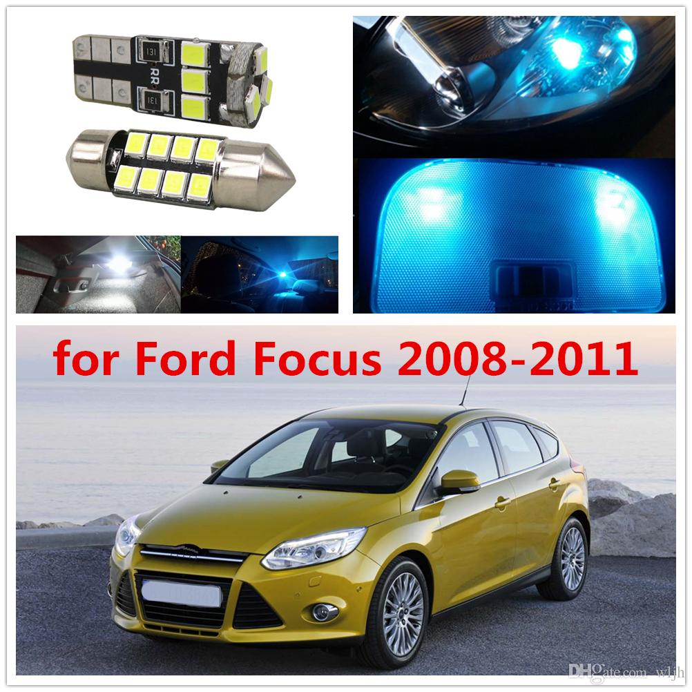 hight resolution of wljh 6pcs car light 2835smd festoon 36mm c5w w5w t10 led lights interior bulb package deal for ford focus 2008 2009 2010 2011