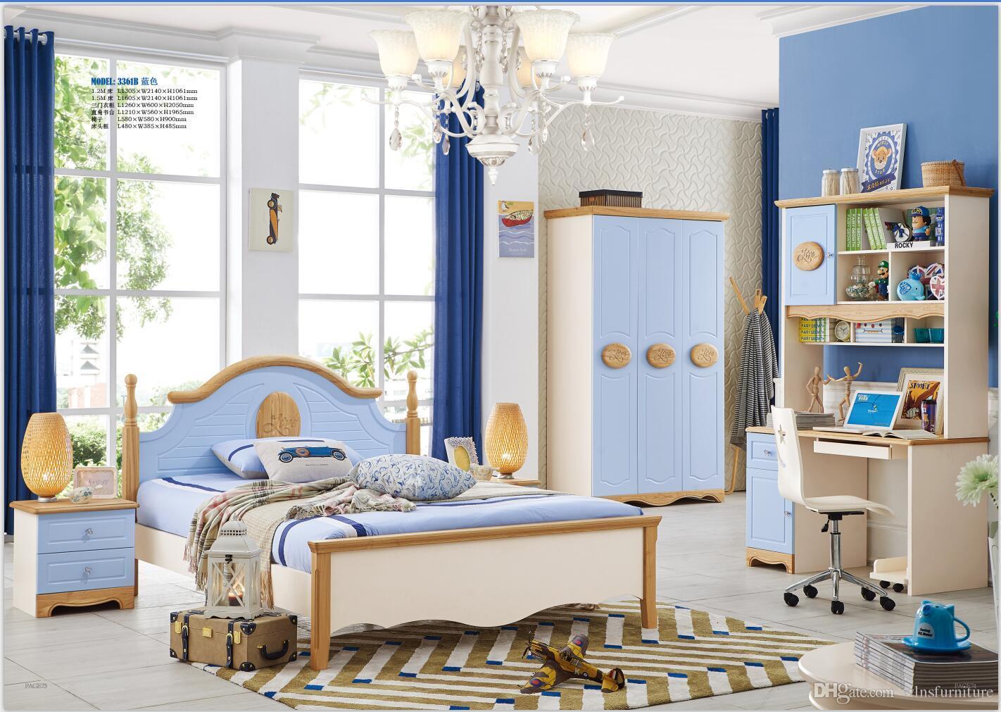 acheter ensemble de meubles de chambre a coucher moderne en bois massif enfants chambre meubles ensemble lit armoire bureau table de chevet chaise de