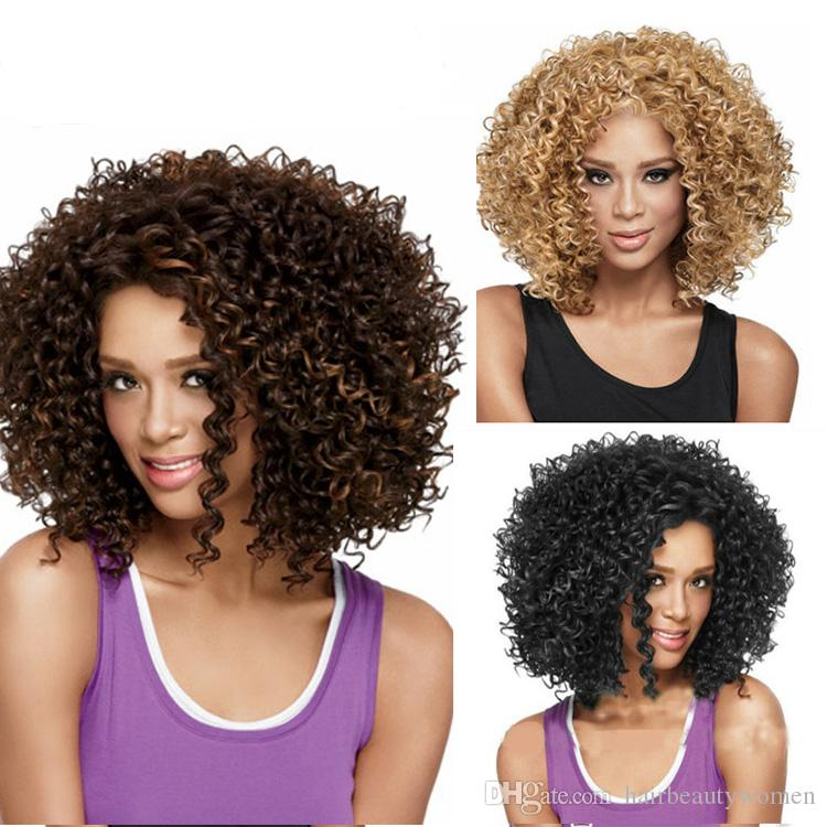 Synthetic Curly Wigs Cosplay Wigs For Women Short Afro Wig African