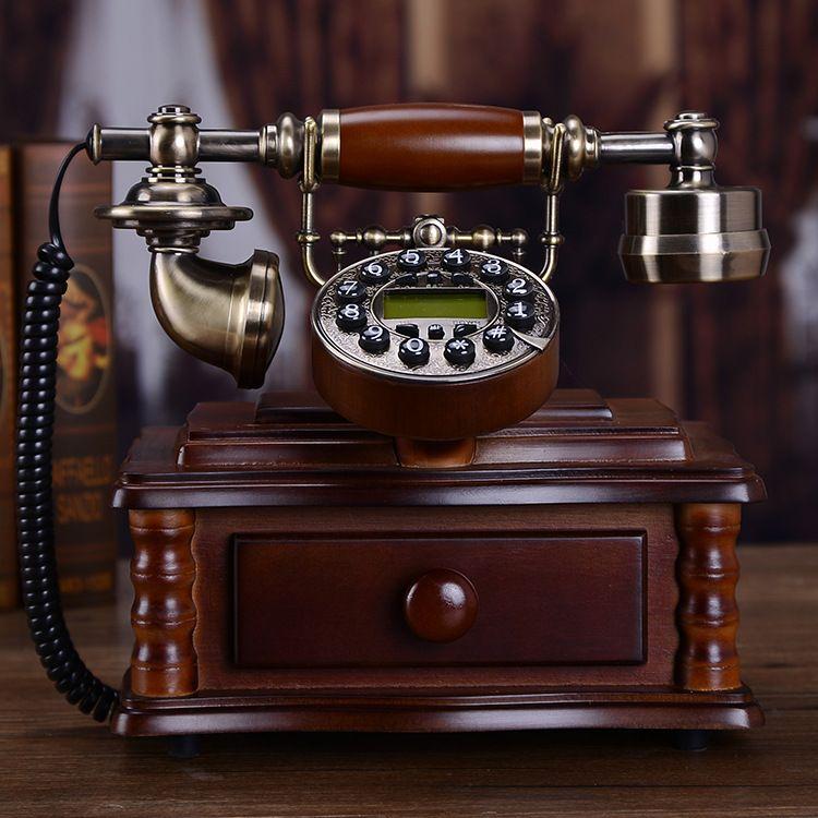 acheter chinois ancien telephone antique en bois massif europeen fixe ligne americaine mode creative vieux telephone retro de 123 66 du soka trading
