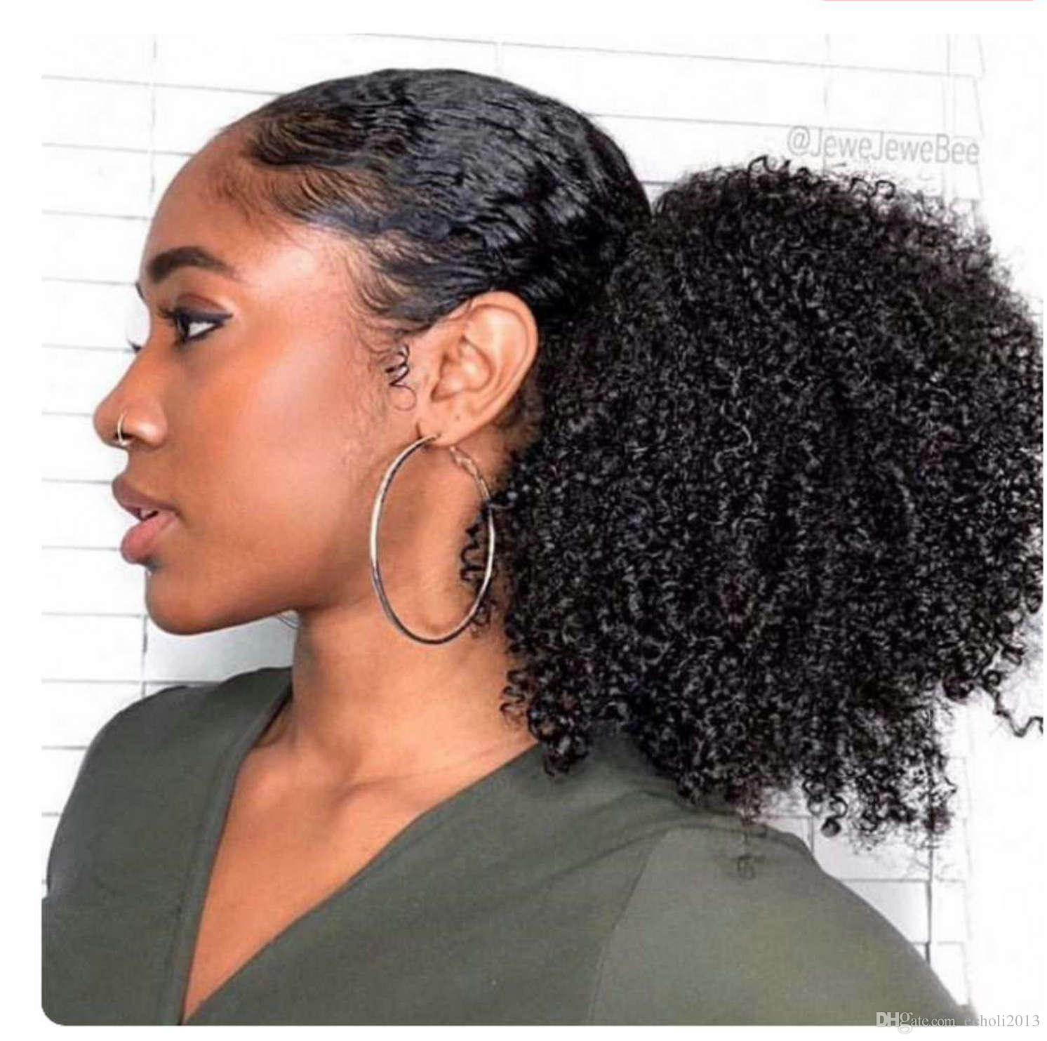 Short Puff Afro Kinky Curly Hair Ponytail Hair Extension