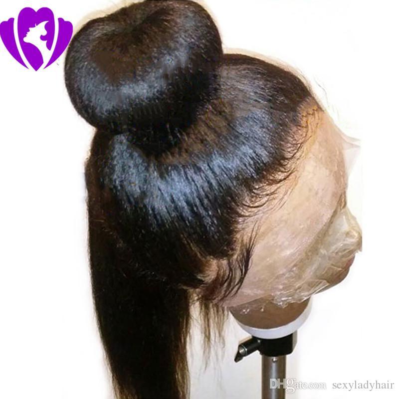 10 28 Inch Brazilian Natural Hair Long Yaki Straight Black Red